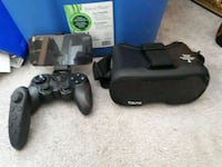 black Sony PS3 slim console with controller Fort Saskatchewan, T8L 2C4