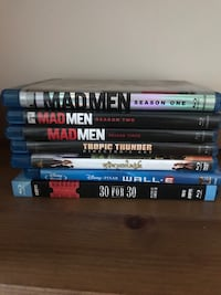 Blu Ray DVDs (Madmen, Tropic Thunder, Princess Bride, Wall-e, 30/ 30)