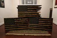 Rustic Burnt American Flag Virginia Beach, 23462