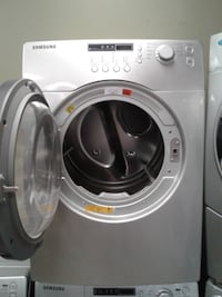 white front-load clothes washer null