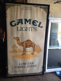 Double sided marquis with Camel advert 170 mi