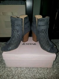 JustFab grey open toe booties  Livermore