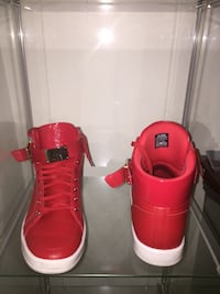 Red hi top sneakers size 11 778 km