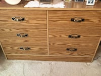 2 matching dressers with wall mirror and desk