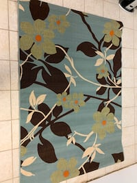 Blue and Brown Floral Area Rug Burlington, L7S 2H7