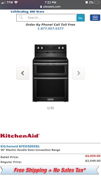 Double Oven KitchenAid appliance/ all electric.