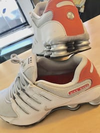 pair of white Nike Air Max shoes New York, 10002