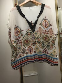 multicolored tribal print batwing blouse Midland, 79707