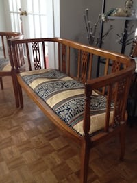 Antique Edwardian Settee and Two Chairs Barrie