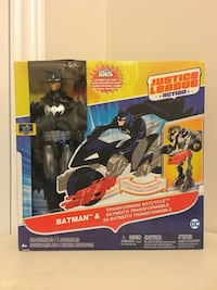 Justice League Action - Batman & Transforming Batcycle w The Atom Toronto, M5A 1N8