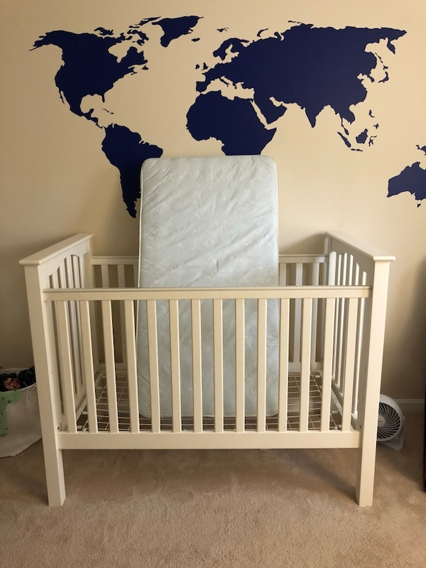 Pottery Barn Kids Kendall crib with Simmons mattress bought from Pottery Barn Kids