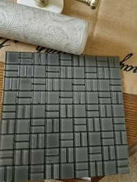 Modern Slate Grey Glass Tiles with glue back Barrie, L4M 5S6