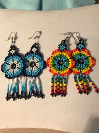 2 pair new beaded fringe flower earrings Silver Spring, 20904
