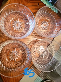 four clear cut glass bowls College Station, 77845