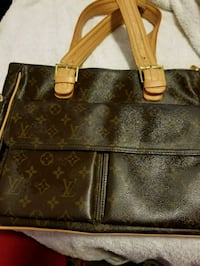 brown monogrammed Louis Vuitton leather tote bag Southern Pines, 28387