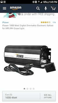 1000 W black and grey iPower digital dimmable electronic ballast screenshot Lancaster, 93535