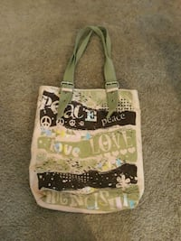 white and green floral print tote bag Colorado Springs, 80918