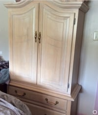 Pickled pine  Armoir and dresser and a night stand all 3 pieces $300 Central Frontenac, K0H 2E0