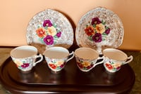 Vintage trentham Royal Crown Pottery luncheon set with pansies Toronto, M1M 3H2