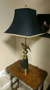 Classic black and gray table lamps...Pair 20 km