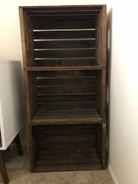 Stained wooden crates. $5 each or $10 for all three   San Marcos