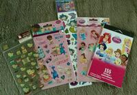 Assorted sticker lot, princess, doc mcstuffins, hello kitty and mermaid stickers Langley, V1M 2G2