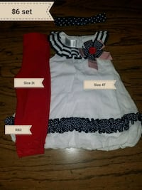 Size 3T-4T red, white, & blue set Erath, 70533