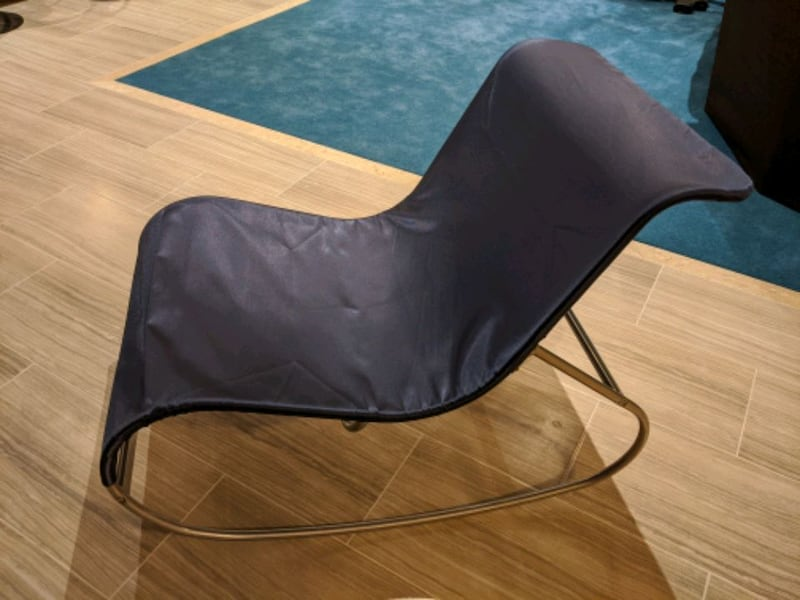 Stylish Metal and fabric chair  febce3a5-d326-4c6c-b573-60df6b759487