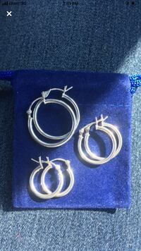 Stamped 925 sterling silver ltalian hoop earrings Toronto