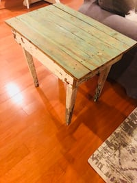 Rectangular green and brown wooden coffee table Tampa, 33609