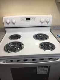 white and black electric coil range oven Mississauga, L5M