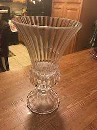 clear glass footed vase Phoenix, 85053