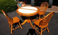 Maple tile top table and chairs Frederick