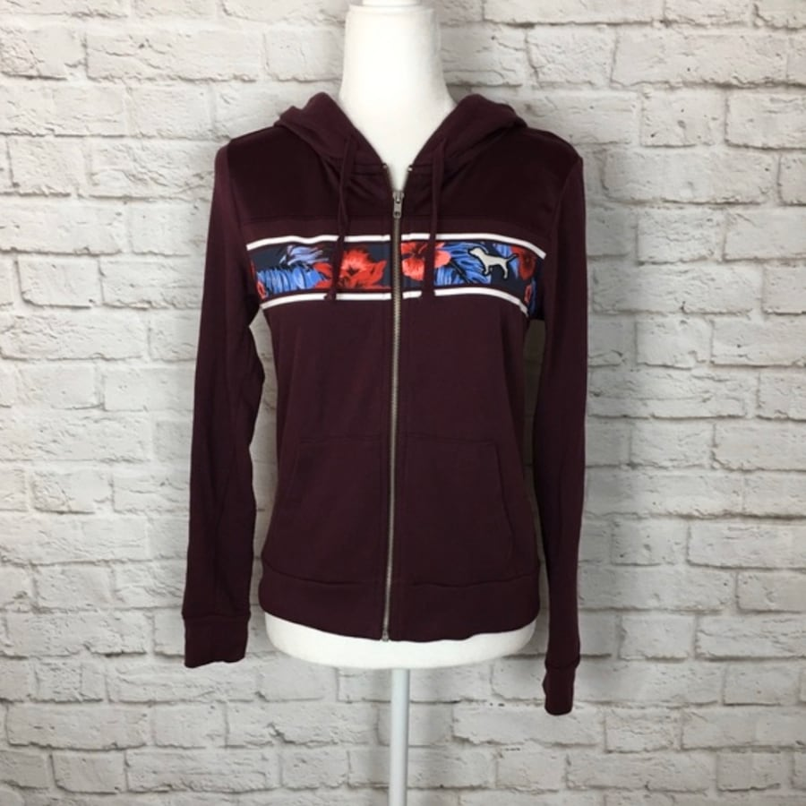 Victoria's Secret tropical full zip - large