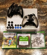 Xbox One console with controller and game cases Silver Spring, 20906