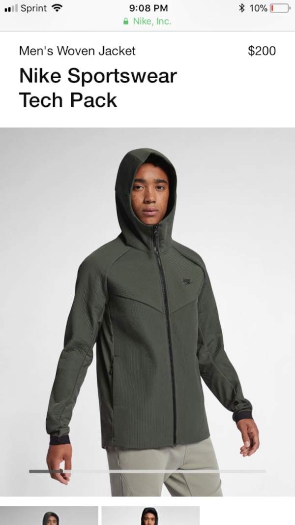 2375b779a4f Used NIKE Tech Pack Textured-Woven Hooded Jacket Men's sz M Brand New With  Tags for sale in Los Angeles - letgo