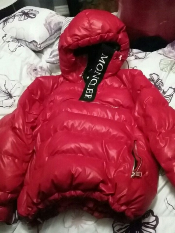29d475060 Kith Moncler Lachat Down Hoodie Robin Red
