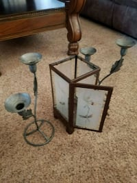 2 Metal Candle Handles Decor $30 And 1 Lantern $20 Williamsburg, 23185