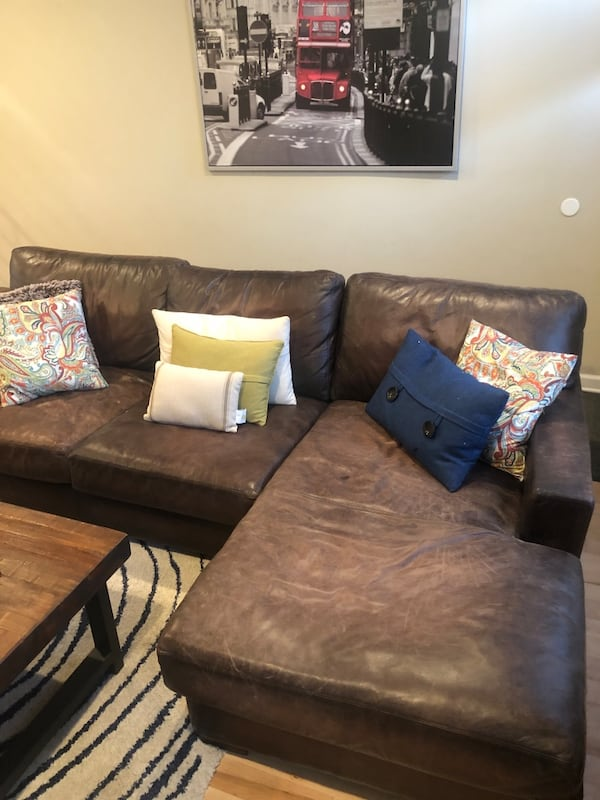Gently Used Pottery Barn Leather Sofa