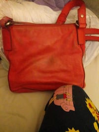 red and black leather crossbody bag Springfield, 62707