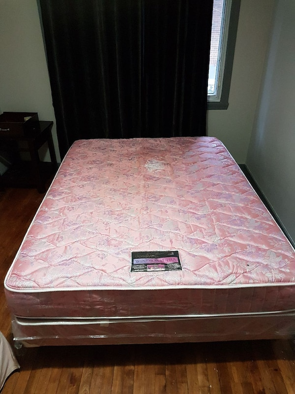 quilted pink floral mattress