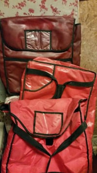 red-and-black leather bags