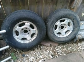 Two 2002 Chevy six Lug aluminum mags