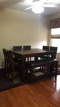 dining   table set and bench