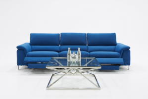 Divani Modern Blue Sofa w/ Electric Recliners FREE DELIVERY FINANCING