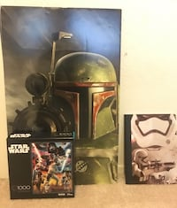 Star Wars 1000 Piece Puzzle, Boba Fett Cut Out, and Star Wars Journal  Whittier, 90603