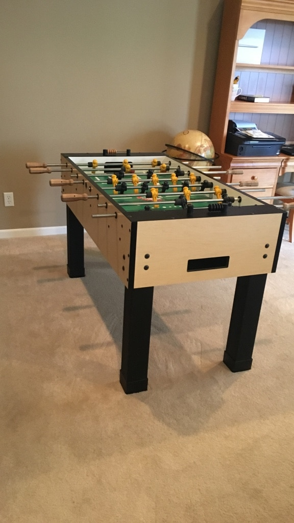 White Green And Black Wooden Foosball Table