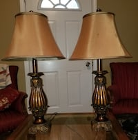 """A Pair of Table Lamps (28"""" tall) Georgetown"""