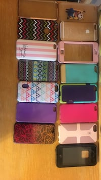 Lot of phone cases for girls (or brave guys) $5 each except black lifeproof case, $20. Pink lifeproof case is missing screen cover* all covers fit iPhone 6 and 6s Ellensburg, 98926