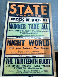 Old Card Board Theater posters.